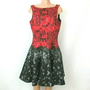 Julian Taylor Dress Floral Fit N Flare Size 6